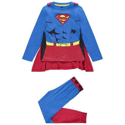Pijama de disfraz de punto con capa desmontable de Superman Marvel