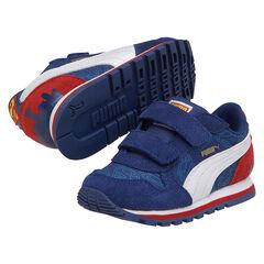 Zapatillas de deporte de caña baja con velcro Puma con impreso Superman