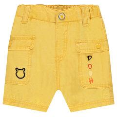 Bermudas de algodón con bolsillos con botones a presión y detalles ©Disney Winnie The Pooh