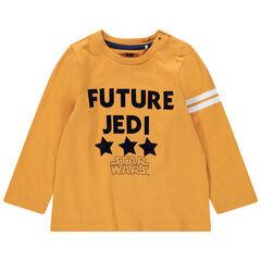 Camiseta de manga larga de punto con mensaje Star Wars estampado