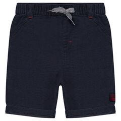 Bermudas de algodón liso con cintura elástica