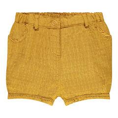Pantalón corto de tela reforzada tipo chino
