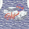 Conjunto de playa top de tirantes con rayas bermuda de color liso