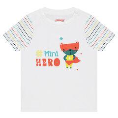 Camiseta de manga corta con animal estampado