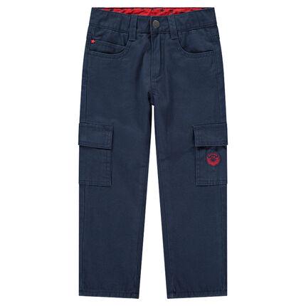 Pantalón de sarga con bolsillos y forro de micropolar