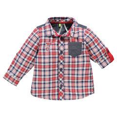 Camisa manga larga con bolsillo con detalles