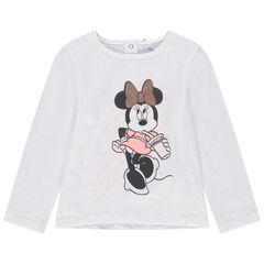 T-shirt manches longues en coton bio print Minnie Disney