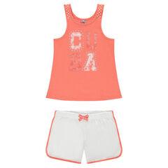 Júnior - Pijama de camiseta sin mangas y shorts de punto liso