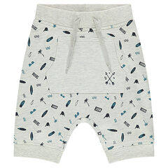 Bermudas de muletón con estampado all over