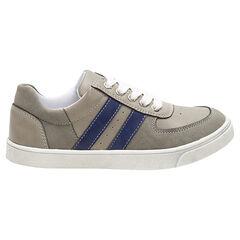 Zapatillas bajas con cordones y bandas que contrastan