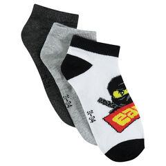Juego de 3 pares de calcetines cortos ©Warner/Lego motif Ninjago