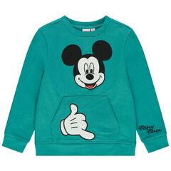Sweat en molleton broderie Mickey Disney
