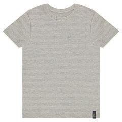Camiseta de manga corta de algodón piqué con bolsillo