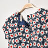 Vestido de manga corta con estampado de flores-all over