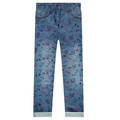 Jegging de felpa de efecto gastado ©Disney con estampado de Minnie all-over