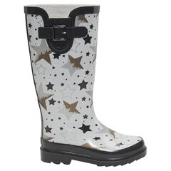 Botas de agua de goma con estrellas estampadas all-over