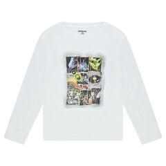Júnior - Camiseta de manga larga de punto con estampado de fantasía por delante