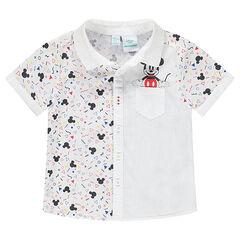 Camisa de manga corta con estampado Mickey ©Disney y bolsillo