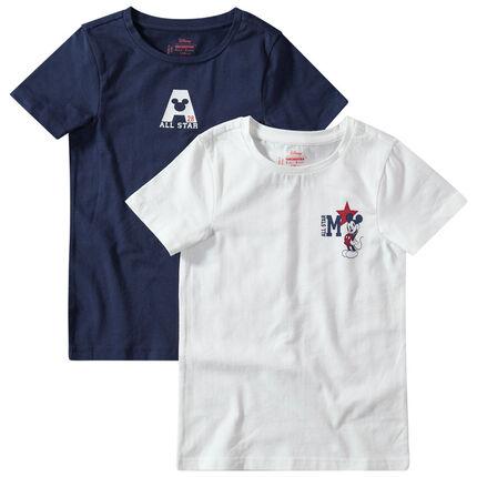 Juego de 2 camisetas con estampado de Mickey Disney