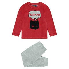 Pijama de terciopelo bicolor BATMAN