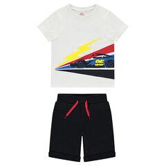 Conjunto con una camiseta estampada Disney/Pixar® Cars y bermudas de muletón liso