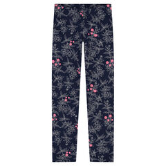 Leggings de punto con flores estampadas all over