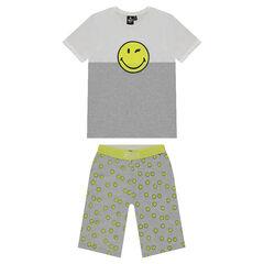 Júnior - Pijama de punto con estampado de ©Smiley