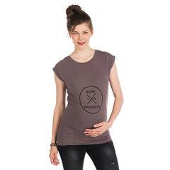 Túnica manga corta para el embarazo de color liso