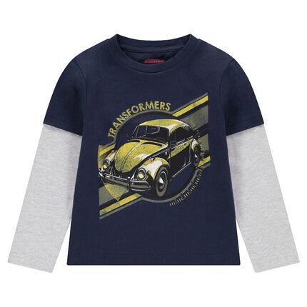 Camiseta de manga larga de efecto 2 en 1 con estampado de ©Transformers
