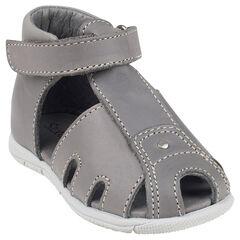 Zapatos salomé con correas de cuero de color liso