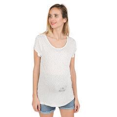 Camiseta de manga de embarazo con estampado de fantasía.
