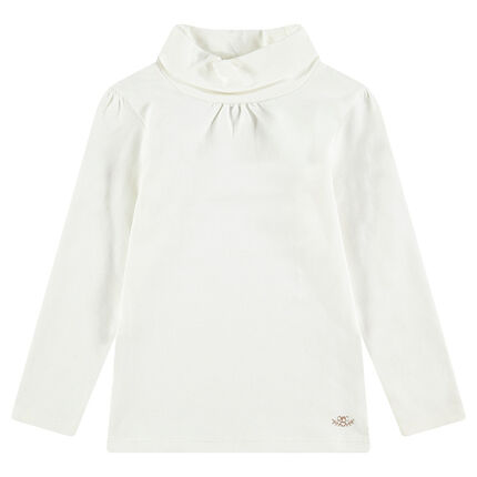 Camiseta interior con cuello subido y logo estampado