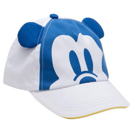 Gorra de sarga con estampado Mickey ©Disney y orejas de relieve
