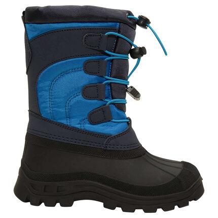 Botas de nieve para niño de nylon con protector de caucho y cremallera de la 28 a la 35