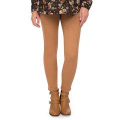 Pantalón de premamá de sarga con cintura baja