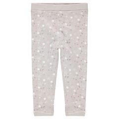 Pantalón de punto con estampado de estrellas all-over