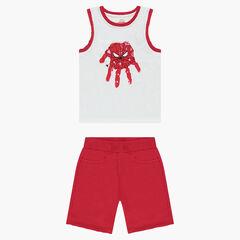 Conjunto de playa  con camiseta y bermudas con estampado ©Marvel Spiderman de muletón rojo