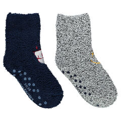 Juego de 2 pares de calcetines con motivos bordados ©Smiley