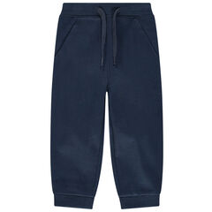 Pantalón de chándal de felpa lisa