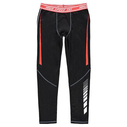 Júnior - Leggings técnicos de esquí con cintura elástica que contrasta