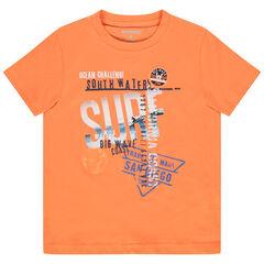 T-shirt manches courtes à print esprit surf
