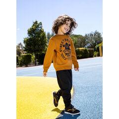 Conjunto jogging de felpa bicolor estampado skateboard , Orchestra
