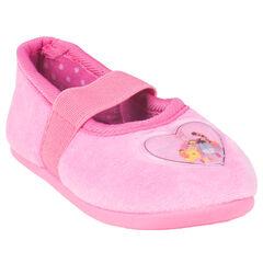 Zapatillas de forma merceditas de color rosa con detalle Disney