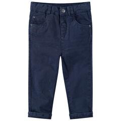 Pantalón de algodón teñido con bolsillos