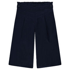 Pantalón amplio de tela