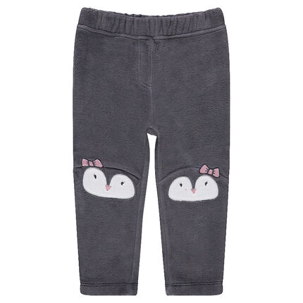 Pantalón de terciopelo con dibujo de animal en las rodillas