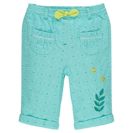 b2dec6900 Pantalón corto con bordados ingleses y bordados de fantasía ...