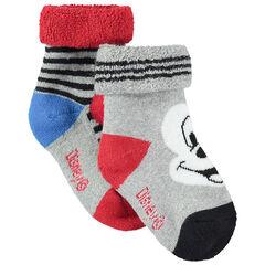 Juego de 2 pares de calcetines variados con dibujo de Mickey Disney