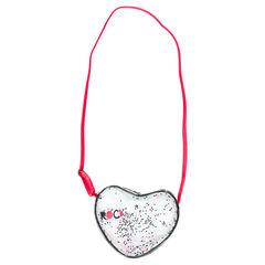 Bolso de bandolera transparente con corazones brillantes