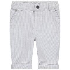 Pantalón con rayas finas all over
